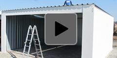 Montáž plechové garáže Siebau